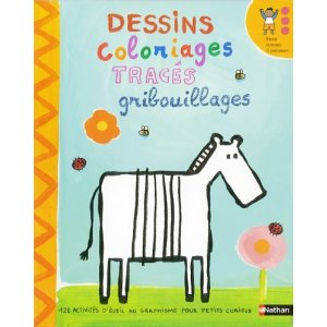 Dessins, coloriages, tracés, gribouillages