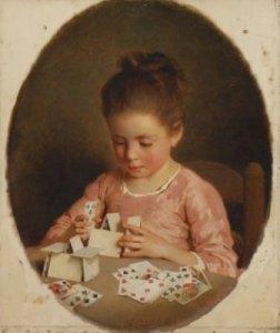 Le château de cartes (1865) - Charles Josuah Chaplin