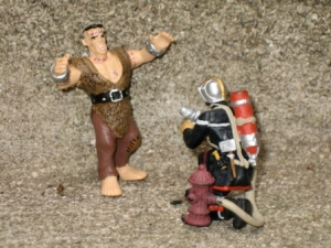 Frankenstein vs Pompier