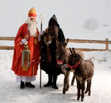 Saint-Nicolas et son âne