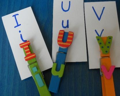 Lettres pinces à linge