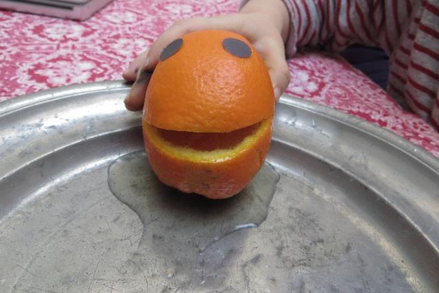orange pressee