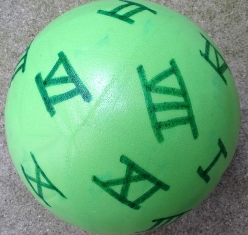 Ballon chiffres romains