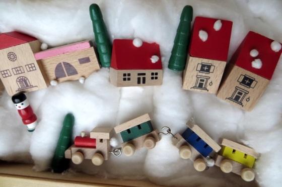 village miniature bois