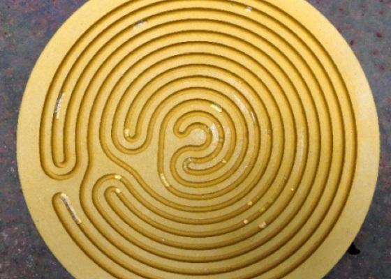 labyrinthe à gouttes d'eau