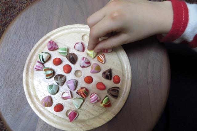 jeu de solitaire avec bonbons