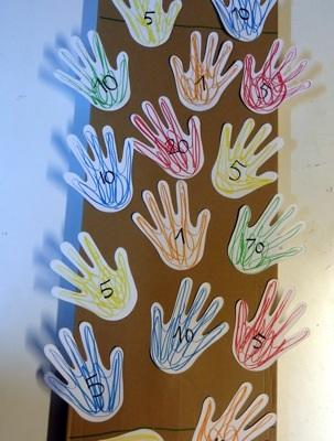 jeu mains en carton