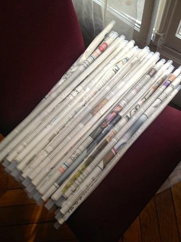 rouleaux papier journal