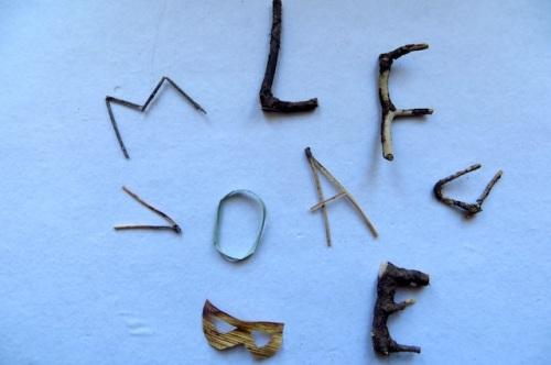lettres trouvées