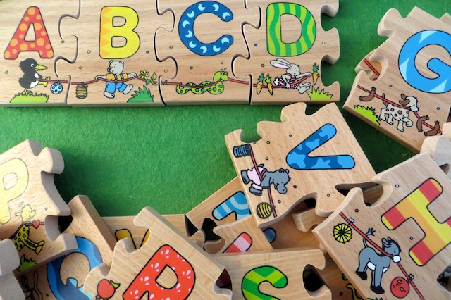 puzzle lettres bois