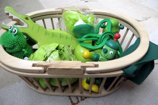 treasure basket vert
