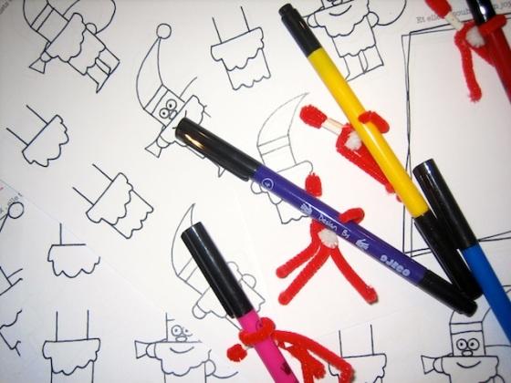 dessiner père noël