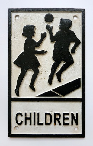 Children sign