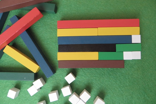 tapis d'addition cuisenaire