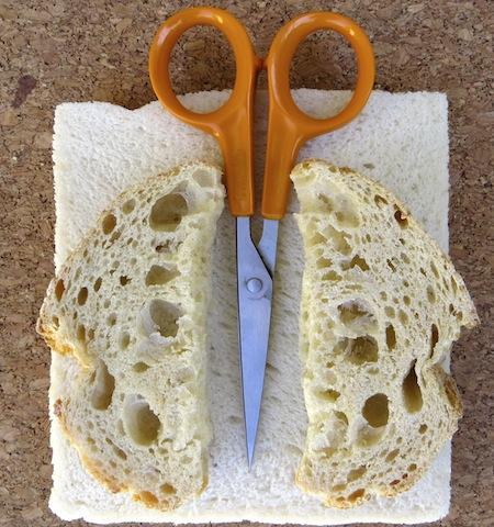 pains tranchés