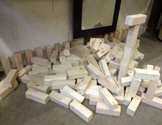 blocs au sol