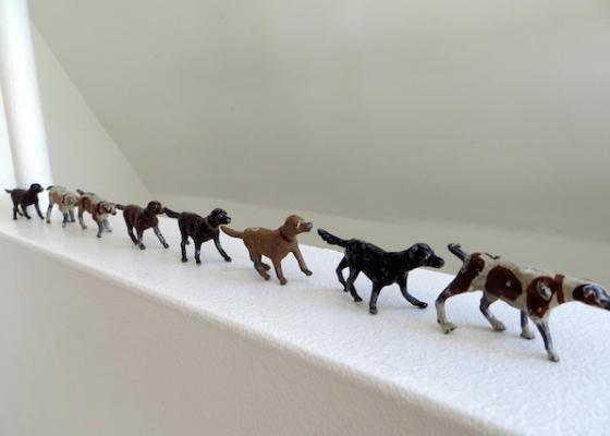 figurines chiens