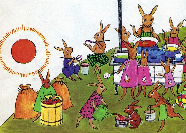 lapins œufs