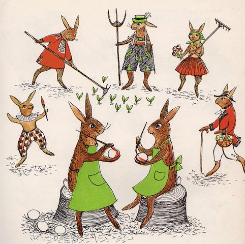 lapins peintres
