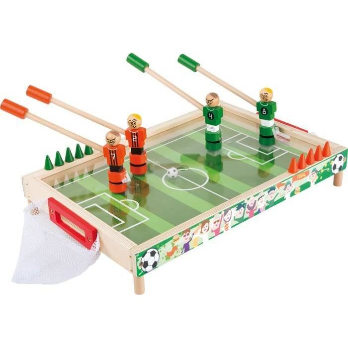 baby foot magnetique de table en bois