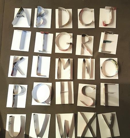 alphabet papier