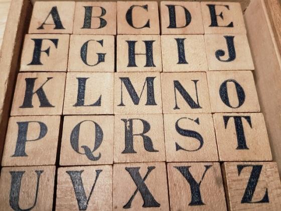 alphabet vintage