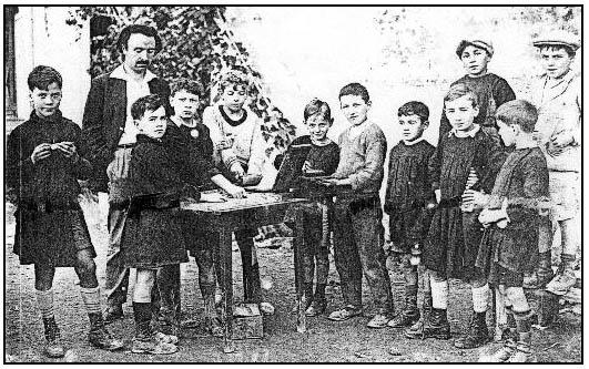 Célestin Freinet et ses élèves