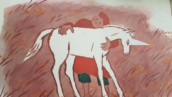 peinture licorne